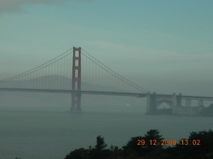 The Golden Gate Bridge:  View From Land's End, San Francisco:  December 2008