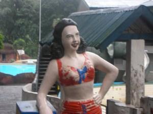 plaster effigy of Esther Williams, in Santa Fe Resort, just outside Bacolod City