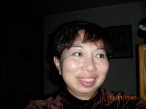 """Self in HAPPY Mode Again! An editor of Rogue Magazine (Philippines) wanted self to send a """"recent"""" author pic to accompany the publication of her story """"Island"""" in the special issue on Bacolod.  So self took one of her first selfies ever."""
