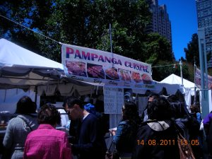 Food Booth at Pistahan, August 2011, Yerba Buena Gardens, San Francisco