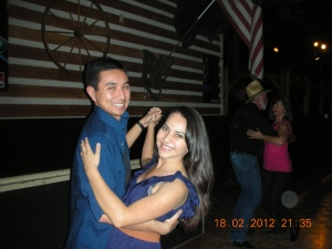 Son and Jennie Dancing in Montana's, southern California, sometime 2012