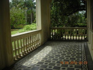 The porch of the Gaston House, just before Manapla, Negros Occidental