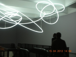 Cool Electric Art! Hirshhorn Museum, Washington DC, April 2012