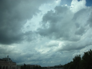 Why is self so fascinated by cloudy skies?  This is Paris, July 2012.