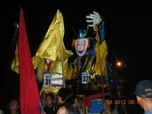 Lacson Street, downtown Bacolod, during Masskara 2012