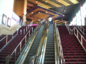 The escalators, downtown Redwood City Century 20