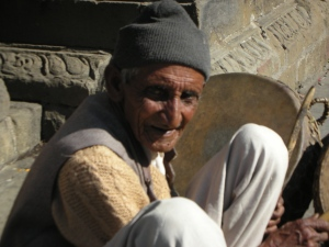 Self visited the Shiva Temple in Baijnath (Himachal Pradesh), and this man was sitting right by the entrance.