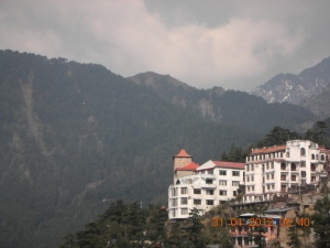 Dharamsala, official abode of the Dalai Lama.  Self was stunned by the whole idea of it, by the whole idea of HERSELF in Dharamsala, alone with two brothers who ran an inn called the Snow Crest . . .  It was FREEZING in January, but the upside was:  barely any tourists, only crazy ones like self.