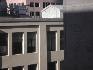 SFMOMA: View From 4th Floor Walkway to the Roof Garden and Blue Bottle Café
