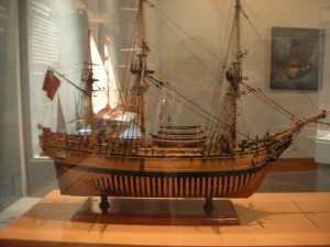 A Ship in the Charles Parsons Gallery of Ship Models