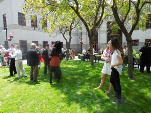 The lawn in front of the Psychology Building