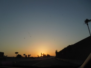 Sunset over the 210, May 2013 (Visited Claremont to attend son's graduation)