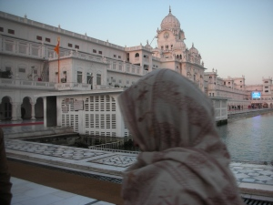 A Pilgrim on Her Way to the Golden Temple in Amritsar, 6 a.m.