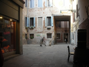 Venice, April 2013:  A mysterious courtyard