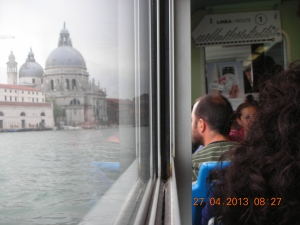 On the Vaporetto to St. Mark's, Venice, April 2013