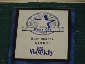 "Voted ""Best Burger"" by the Palo Alto Weekly in their annual poll"