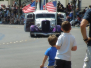 Watching the Parade, Earlier Today