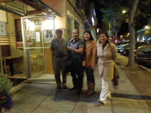 Relatives From Bacolod, After Dinner at Hotaru in San Mateo