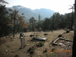 The English cemetery just outside Dharamsala:  Most of the graves belong to soldiers.