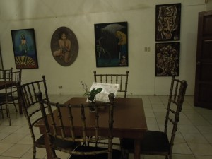 A restaurant inside an art gallery in Bacolod