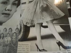 Nice Stilettos! The feet belong to Daniela Jalandoni.