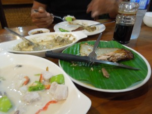 Kinilaw, Grilled Tuna Belly:  Aboy's