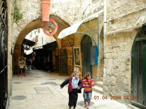 In a bazaar in Jerusalem, April 2008