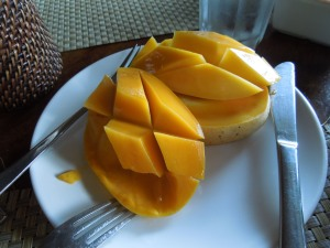 Fresh Mango for Breakfast at Abe's Farm, Magalang, Pampanga
