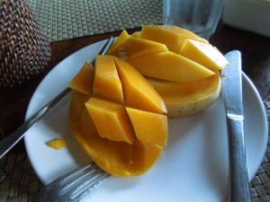 Fresh Mango for Breakfast at Abe's Farm, Magalang, Pampanga