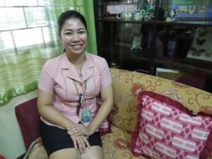 Teacher/ Host Jaimee Serrano:  She accompanied self everywhere in Pampanga and maintained the most cheerful decorum throughout.