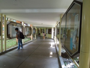 The Covered Walk to the Admin Building