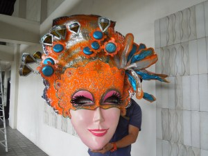 October is Masskara month in Bacolod.  Colorful masks adorn the entire city.