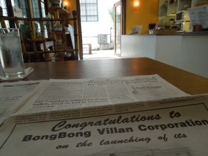 The Negros Museum Café is a good place to catch up on The Visayan Daily Star.