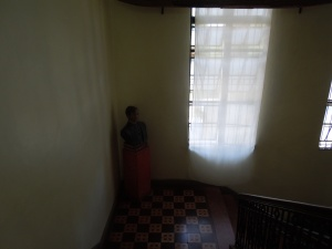 The bust of Rizal can barely be seen.  But it is there.