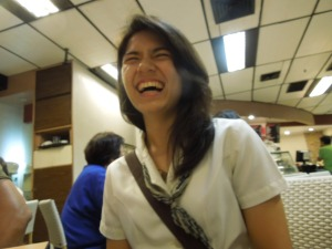Yannie, a coed in De La Salle.  She's the daughter of my Manong Monching.