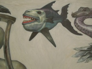 Detail of another phantasmagorical painting in the Phinma Gallery