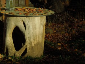 The hollowed trunk of a Philippine tree . . . had it shipped from the Philippines