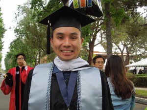 Son got his Masters diploma from Claremont Graduate University in May.  Proud moment for all of us!  Now, he just has to submit a dissertation :-)