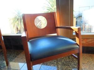 Chair, Upper Level Lobby of the Redwood City Century 20