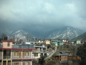 View from a Monastery, Dharamsala, January 2012