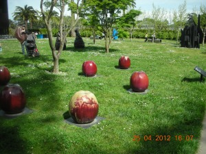 """The name of this outdoor installation was """"Apple."""" It was just outside the de Young Museum, in Golden Gate Park, early 2012"""