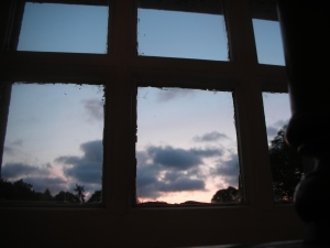 Sunset, June 2012:  In southern Scotland, that means 10 p.m.