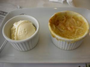 Café Uma, Lacson St., Bacolod City:  Cassava with home-made ice cream