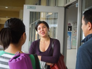 Llana chatting with us after the workshop.