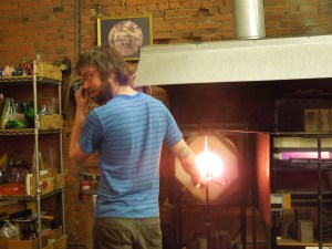 Michael Cozza, Glass Blower