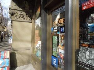 The Globe, a bookstore near Pioneer Park