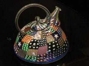Crazy Quilt Teapot:  Richard Marquis, 1981