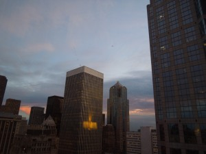 The Restless Eye: Sunset From the 27th Floor, Seattle Sheraton