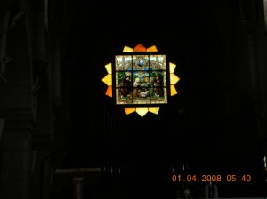 Inside a church in Bethlehem.  Self was there in 2008.