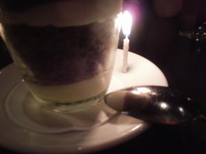 Self's birthday last year: she celebrated with Niece G in San Francisco restaurant SPQR.